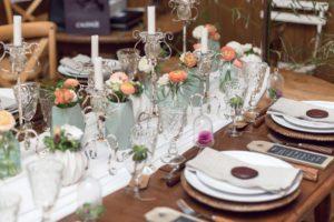 Renoncule Orange Pour Décoration Florale De Table De Réception De Mariage.
