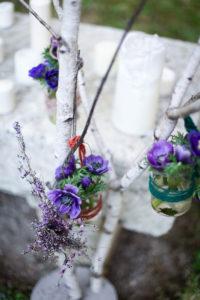 Le Violet Couleur Romantique Pour Des Bouquets à Noël.