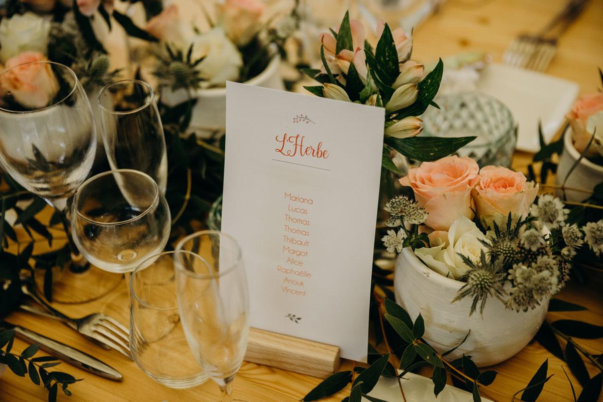 Les fleurs d'astrances vertes en bouquets et compositions florales de mariage et réception.