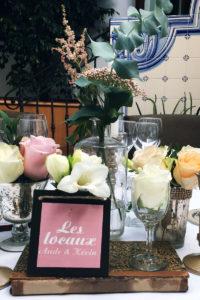 Fleurs Pour Un Mariage Au Pays Basque à Anglet En Centre De Table Chic Et Champêtre.