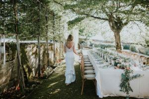 Guirlande De Feuillage En Eucalyptus Et Fleurs De Déco De Table De Mariage Bohème Chic.