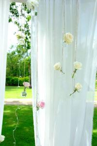 Ambiance Romantique En Fleurs D'été Et Du Mois D'août.