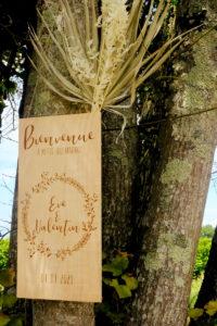 Panneau Bienvenue De Mariage En Gironde.
