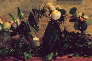 Composition Florale De Mariage En Septembre à La Déco Bohème Champêtre.