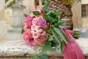 Bouquet De Mariée En Fleurs Romantique De Déco Florale De Mariage En Aquitaine Au Thème Bohème.