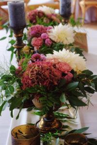 Décoration Florale En Hortensia Et Fleurs Séchées De Mariage Bohème Champêtre.